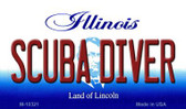 Scuba Diver Illinois State License Plate Wholesale Magnet