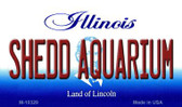 Shedd Aquarium Illinois State License Plate Wholesale Magnet