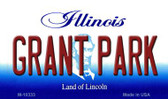 Grant Park Illinois State License Plate Wholesale Magnet
