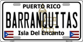 Barranquitas Wholesale Metal Novelty License Plate LP-2819