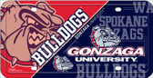 Gonzaga Bulldogs Deluxe Wholesale Metal License Plate