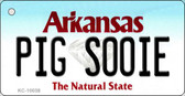 Pig Soonie Arkansas State License Plate Wholesale Key Chain KC-10038