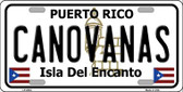 Canovanas Puerto Rico Wholesale Metal Novelty License Plate LP-2824