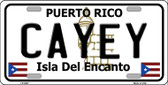 Cayey Puerto Rico Wholesale Metal Novelty License Plate LP-2827