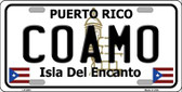 Coamo Wholesale Metal Novelty License Plate LP-2831