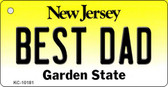 Best Dad New Jersey State License Plate Wholesale Key Chain