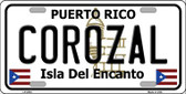 Corozal Wholesale Metal Novelty License Plate LP-2833
