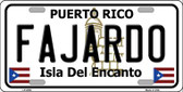 Fajardo Wholesale Metal Novelty License Plate LP-2836