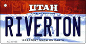 Riverton Utah State License Plate Wholesale Key Chain