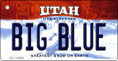 Big Blue Utah State License Plate Wholesale Key Chain