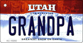 Grandpa Utah State License Plate Wholesale Key Chain