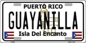 Guayanilla Puerto Rico Wholesale Metal Novelty License Plate LP-2840