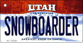 Snowboarder Utah State License Plate Wholesale Key Chain
