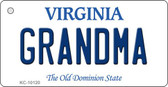 Grandma Virginia State License Plate Wholesale Key Chain