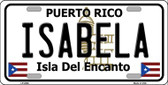 Isabela Puerto Rico Wholesale Metal Novelty License Plate LP-2846