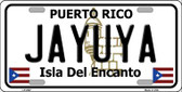 Jayuya Puerto Rico Wholesale Metal Novelty License Plate LP-2847