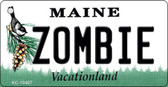 Zombie Maine State License Plate Wholesale Key Chain