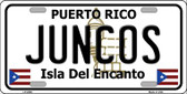 Juncos Puerto Rico Wholesale Metal Novelty License Plate LP-2849