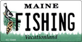 Fishing Maine State License Plate Wholesale Key Chain