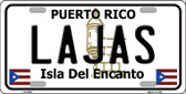 Lajas Puerto Rico Wholesale Metal Novelty License Plate LP-2850