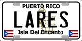 Lares Puerto Rico Wholesale Metal Novelty License Plate LP-2851