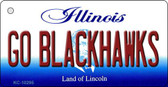 Go Blackhawks Illinois State License Plate Wholesale Key Chain