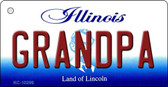 Grandpa Illinois State License Plate Wholesale Key Chain