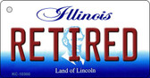Retired Illinois State License Plate Wholesale Key Chain