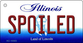 Spoiled Illinois State License Plate Wholesale Key Chain