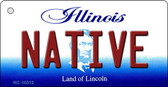 Native Illinois State License Plate Wholesale Key Chain