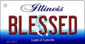 Blessed Illinois State License Plate Wholesale Key Chain