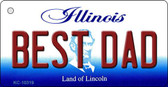 Best Dad Illinois State License Plate Wholesale Key Chain