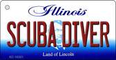 Scuba Diver Illinois State License Plate Wholesale Key Chain