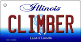 Climber Illinois State License Plate Wholesale Key Chain