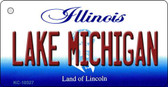 Lake Michigan Illinois State License Plate Wholesale Key Chain