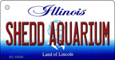 Shedd Aquarium Illinois State License Plate Wholesale Key Chain