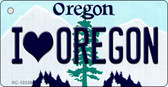 I Love Oregon Oregon State License Plate Wholesale Key Chain