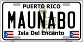 Maunabo Puerto Rico Wholesale Metal Novelty License Plate LP-2858