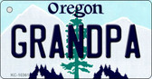 Grandpa Oregon State License Plate Wholesale Key Chain