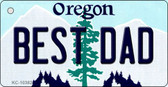 Best Dad Oregon State License Plate Wholesale Key Chain