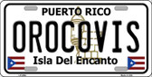 Orocovis Puerto Rico Wholesale Metal Novelty License Plate LP-2864