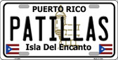 Patillas Puerto Rico Wholesale Metal Novelty License Plate LP-2865