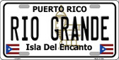 Rio Grande Puerto Rico Wholesale Metal Novelty License Plate LP-2870