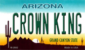 Crown King Arizona State License Plate Wholesale Magnet