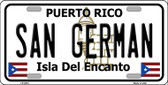 San German Puerto Rico Wholesale Metal Novelty License Plate LP-2873