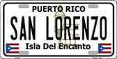 San Lorenzo Puerto Rico Wholesale Metal Novelty License Plate LP-2875