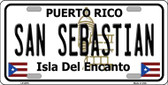 San Sebastian Puerto Rico Wholesale Metal Novelty License Plate LP-2876