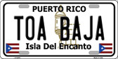 Toa Baja Puerto Rico Wholesale Metal Novelty License Plate LP-2879