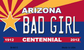 Bad Girl Arizona Centennial State License Plate Wholesale Magnet