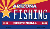 Fishing Arizona Centennial State License Plate Wholesale Magnet